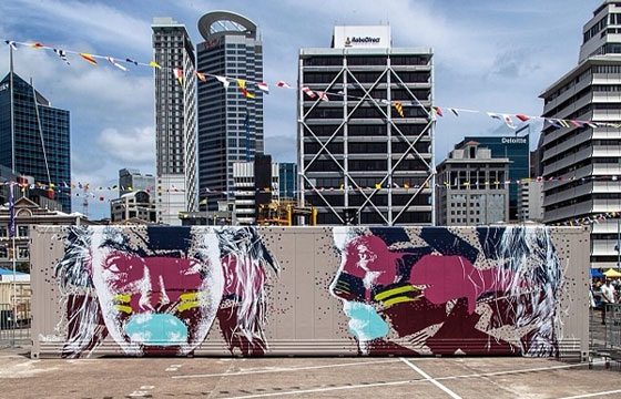 Askew paints Maersk container