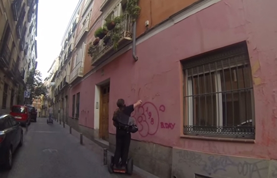 Video: Lush Segway graffiti bombing