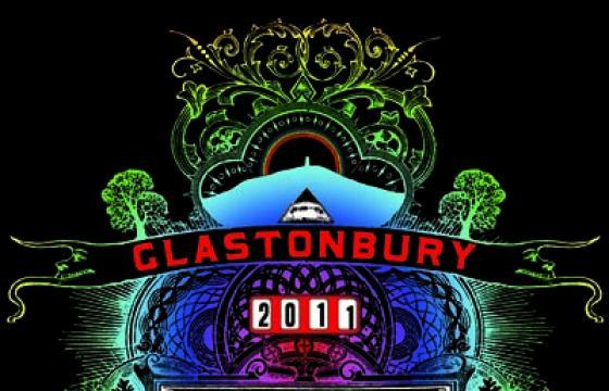 Stanley Donwood for Glastonbury 2011 Print