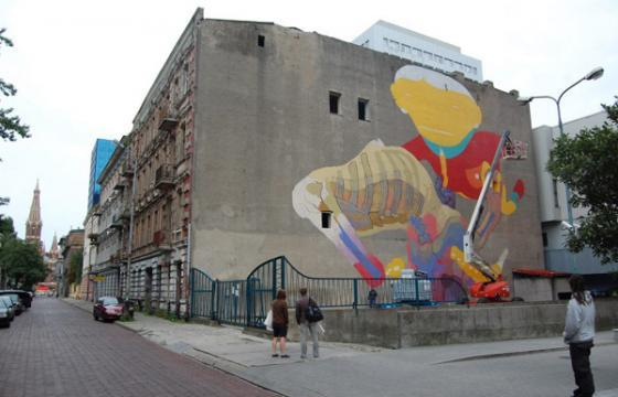 In Progress: Os Gemeos x Aryz in Poland