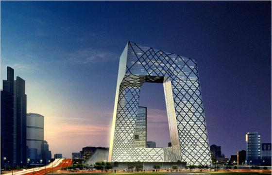 In Street Art: CCTV Headquarters in Beijing