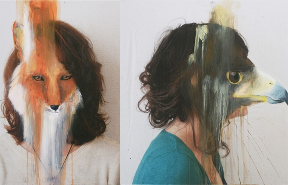 Paintings on Photographs by Charlotte Caron