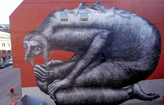 A Giant Mountain Troll by Phlegm