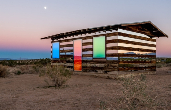 """Lucid Stead"" in the California Desert by Phillip K. Smith III"