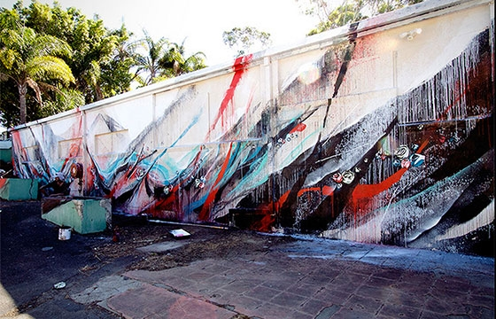 Shida splatter mural in Gold Coast, Australia