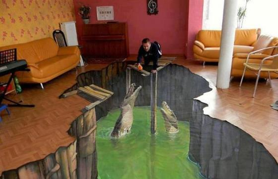 3D Floor Art, In Your House