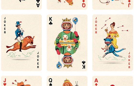 Illustrated Deck of Cards by Jonathan Burton