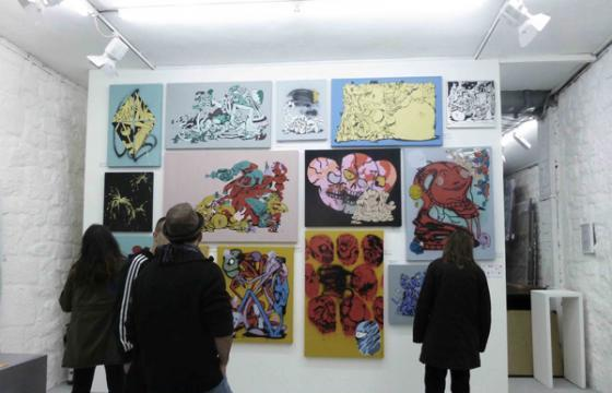 "Photos from Horfe's ""Hard Comix @ Galerie Celal"