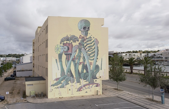 ARYZ Mural in Lagos, Portugal