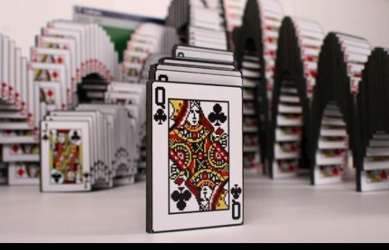 "Solitaire ""Win"" Screen Sculpture"