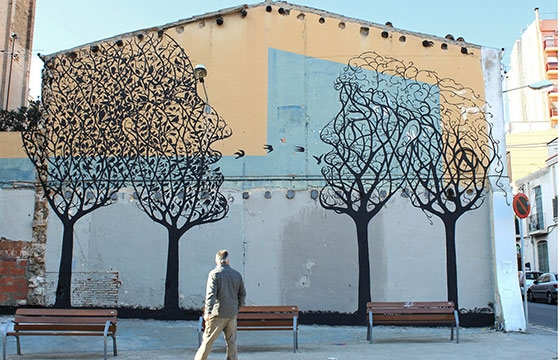 New Sam3 mural in Barcelona, Spain
