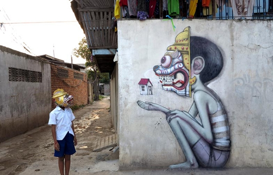 Murals in Cambodia by Seth Globepainter