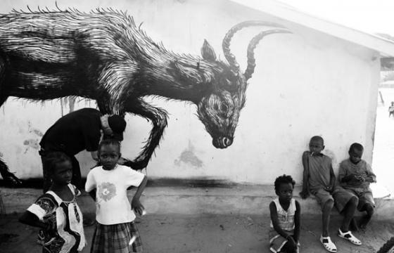 ROA in Gambia for Wide Open Walls 2011