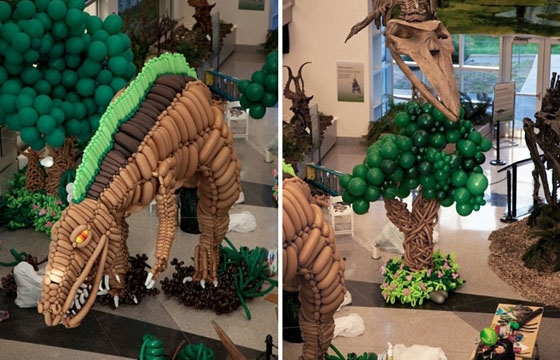 20-Foot Balloon Dinosaur by Alrigami @ VA Museum of Nat. History