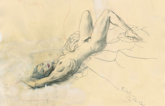 Kent Williams' Nude Renderings
