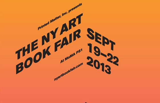THE NY ART BOOK FAIR, Sept 19—22, 2013