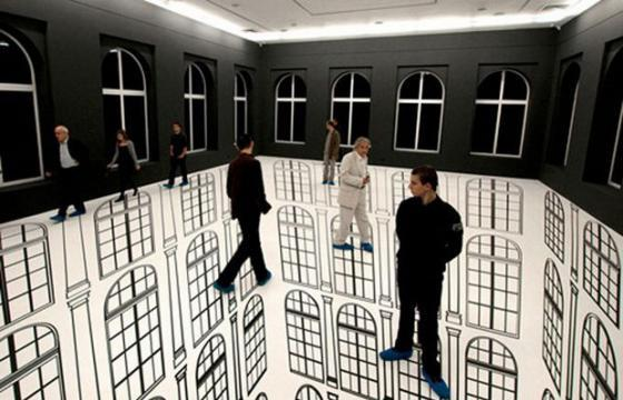 Optical Illusions in Installations by Regina Silveira