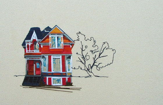 Embroidered Architecture by Stephanie Clark