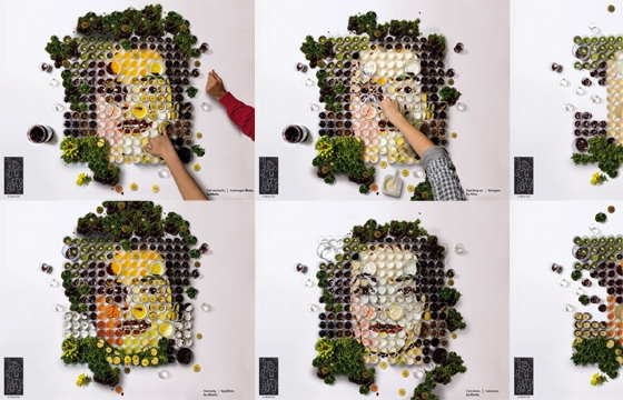 """El Banquete,"" Fruit and Vegetable Portraits by Martin Satí"