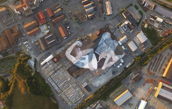 Ella & Pitr just crushed the World's Largest Mural for Nuart 2015