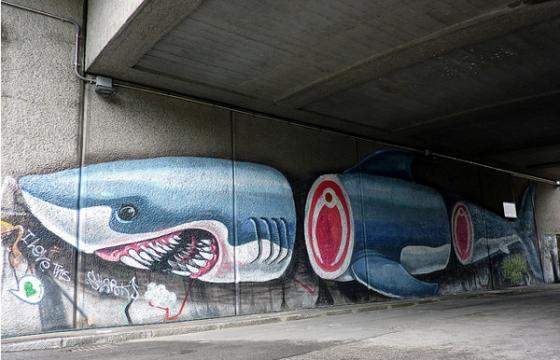 In Street Art: Nychos Gives Us a Shark