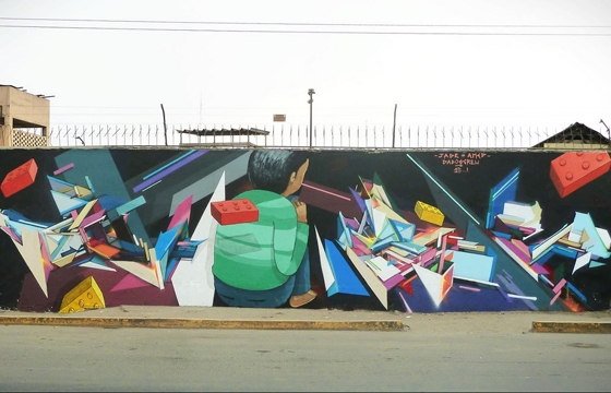 Jade x Amed New Mural in Peru
