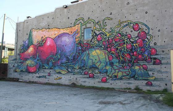 Aryz Fruits and Veggies Mural