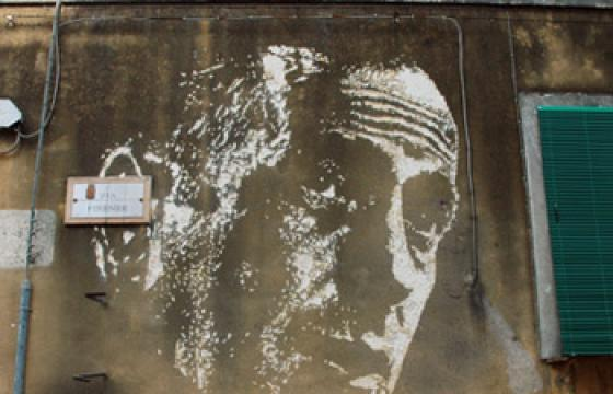 Vhils Gets Up in Italy for Start of FAME Fest 2010