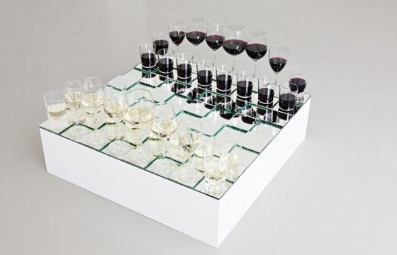 Anders Nordby's Wine Glass Chess Set