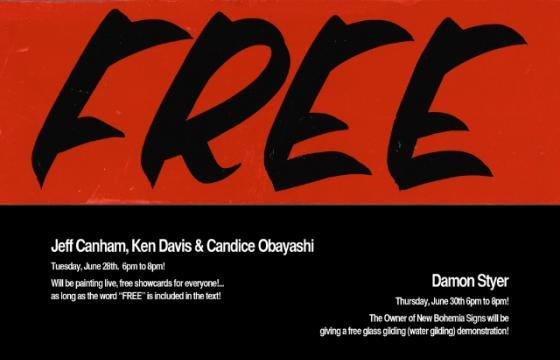 """Free"" featuring New Bohemia Signs at Guerrero Gallery"