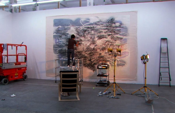 GIFs of Julie Mehretu's Meticulous, Multi-Layered Painting Process