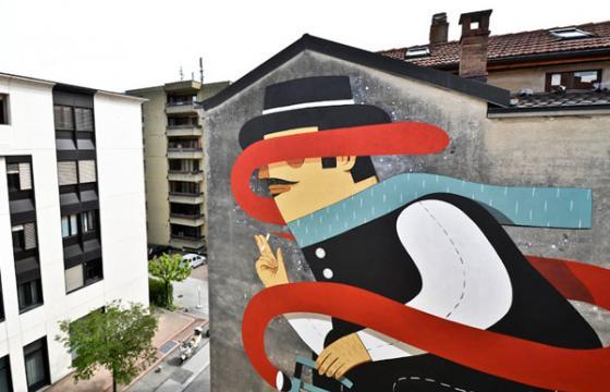 Agostino Iacurci Mural in Switzerland