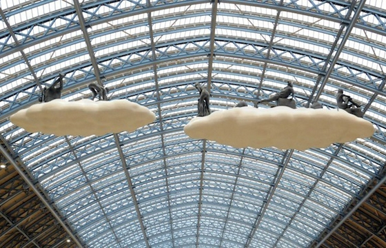 """Cloud I Meteoros"" by Studio Orta over St Pancras Station, London"