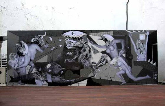 "Picasso's ""Guernica"" used as inspiration for a new wall from VinZ"