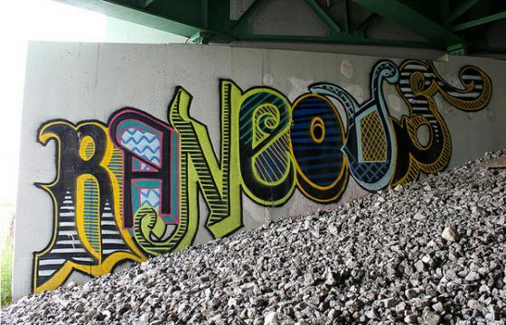 Underpass covered in Rankos pieces