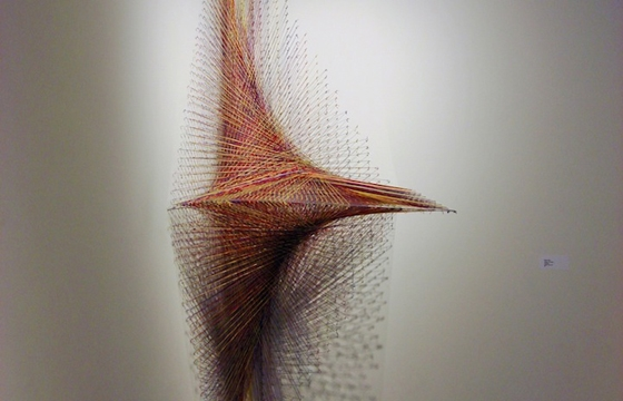 9-Foot Tall Thread Installation by Kendra Werst