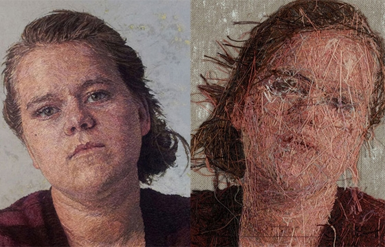 New Embroidered Portraits from Cayce Zavaglia