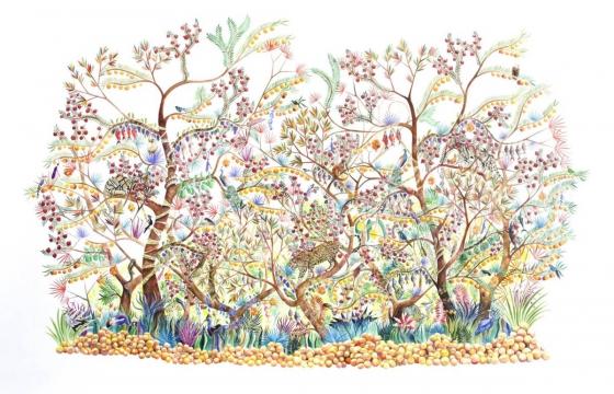 Robin Crofut-Brittingham Explores Fantastical Futures with Watercolor