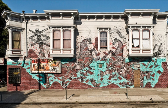New mural by Andrew Schoultz in San Francisco