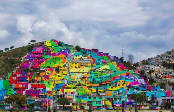 Germen Crew Transforms Houses in Mexican Village into Bright Mural