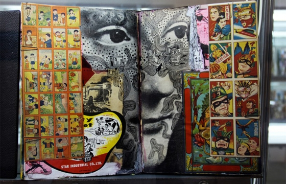 Found Material COllages by Shinro Ohtake