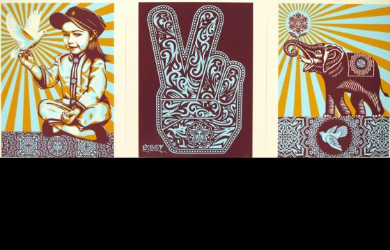 Shepard Fairey x Poster Child Prints Holiday Print Release