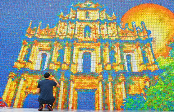 Largest Rubik's Cube Mosaic Ever