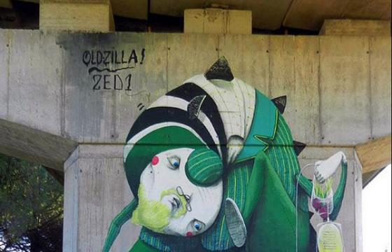 New Zed1 mural in Certaldo, Italy