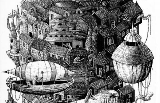 """Civilisation II"" drawing by Phlegm"