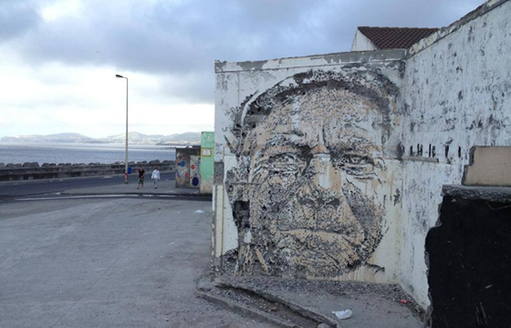 Vhils  in the Portuguese Azores