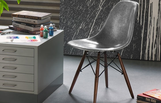Krink x Modernica Fiberglass Side-Shell Chair