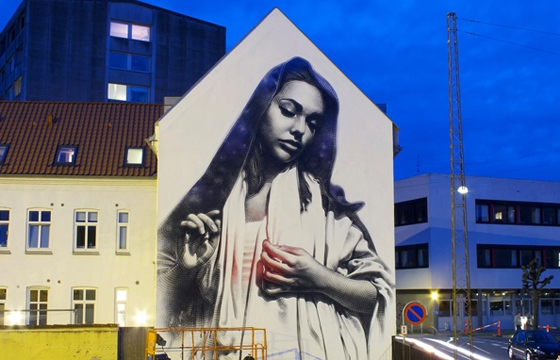 New mural by El Mac in Denmark