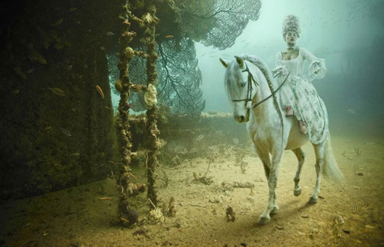 Andreas Franke's 'The Sinking World' @ An Underwater Gallery: 24.27 N, 81.44 W