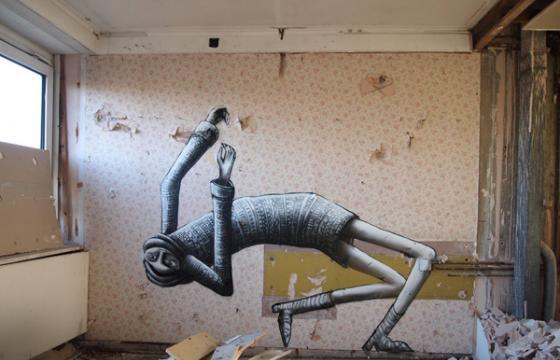 Falling Characters from Phlegm